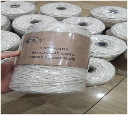 Cotton 4 Strand Macrame Cord