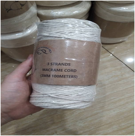 Cotton 3 Strand Macrame cord